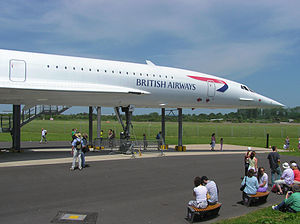 Bristol Filton Airport - Image: Concorde at filton noseview arp