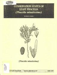 Conservation status of least phacelia (Phacelia minutissima)