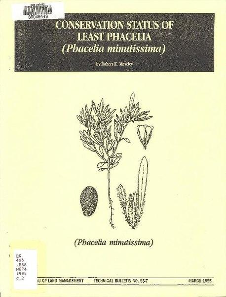 File:Conservation status of least phacelia (Phacelia minutissima) (IA conservationstat27mose).pdf