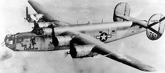 494th Air Expeditionary Group - Consolidated B-24J of the  864th Bombardment Squadron c. 1945.