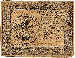 Continental Currency $5 banknote obverse (September 26, 1778).jpg