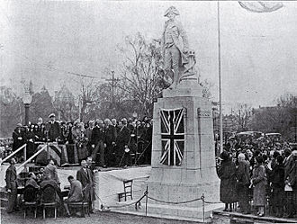 Cook Statue, Christchurch - Cook Statue, unveiling