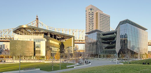 The Bloomberg Center, the House, and the Tata Innovation Center