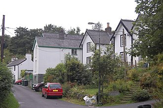 Aberangell - Image: Cottages in Aberangell geograph.org.uk 1431285