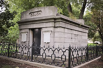 Lincoln Park - Couch Mausoleum in Lincoln Park, October 2013. This mausoleum is the only standing remnant of the cemetery that existed in part of Lincoln Park in the 19th century.