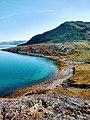 Cove in Fjord and beach Lille Malene hike near Nuuk Greenland.jpg