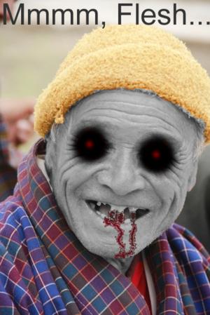 English: A zombie