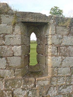 Creswell, Staffordshire - Lancet window of chapel ruins, May 2008