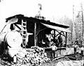 Crew with donkey engine, Vance Lumber Company, near Malone, ca 1916 (KINSEY 1340).jpeg
