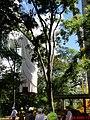 Cristo Salvador de Sertãozinho, em construção. Içamento para o pedestal da estátua do Cristo que pesa 40 toneladas e mede 18 metros de altura em 24 de abril de 2013 às 11.48. Prefeito Municipal, José - panoramio.jpg