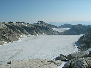 Baranof Cross-Island Trail - The two primary icefields on the Baranof Cross-Island trail.