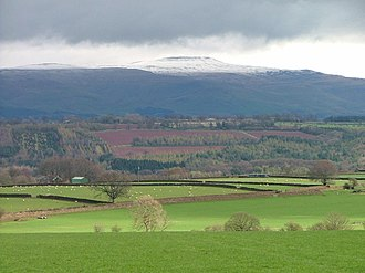 Cross Fell - Cross Fell seen from the Eden Valley