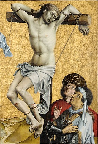 Robert Campin - Thief on the Cross, fragment from a lost altar, c. 1420, Frankfurt