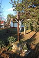 Crucifix side view at the Saint Anna Church garden in Árpádföld in February 2020.jpg