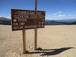Cumberland Pass High mountain pass in Colorado, US