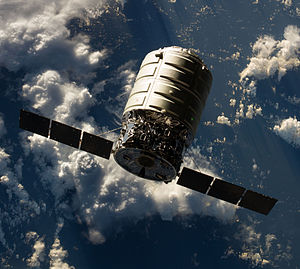 Cygnus Orb-D1 - Cygnus Orb-D1 spacecraft, photographed from ISS