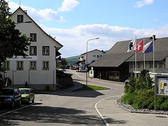 Dänikon - Main street in Dänikon