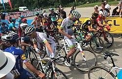 Départ de la 4e étape du Dauphiné 2018 à Chazey - départ fictif 1.JPG