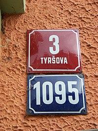 Děčín, Tyršova 3, domovní čísla.jpg