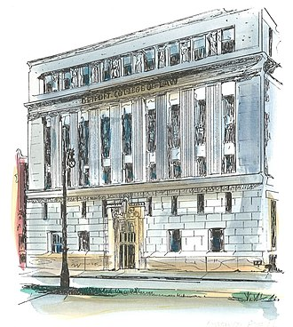 Michigan State University College of Law - Image: DCL Etching