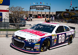 Holden Commodore (VF) - Chevrolet SS NASCAR Sprint Cup Series car, driven by Dale Earnhardt Jr. at Texas Motor Speedway during the 2013 NRA 500.