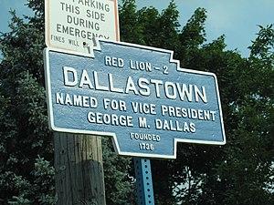 Dallastown, Pennsylvania - Image: Dallastown, PA Keystone Marker in 2012