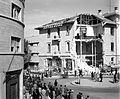 Damage done to police headquarters in Jerusalem by Jewish bomb on Dec. 27, 1945. matpc.12753.jpg