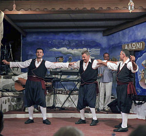 Greek dances - Dancers from Patmos island