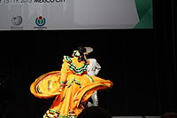 Dancing at the Wikimania 2015 Opening Ceremony IMG 7638.JPG