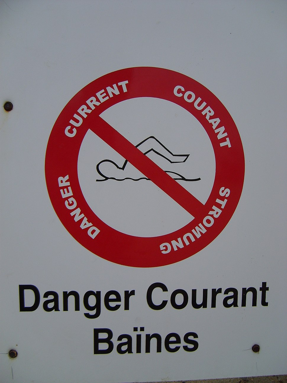 Danger courant baines