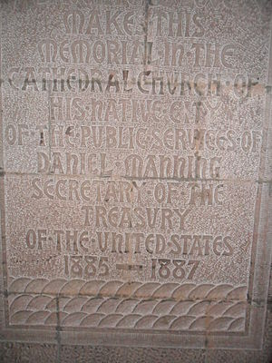 Daniel Manning - The Daniel Manning memorial at the Cathedral of All Saints (Albany, New York).