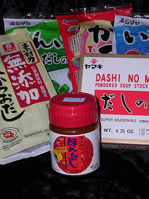 Dashi - Some common brands of packaged instant dashi