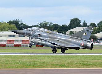 Dassault Mirage 2000N/2000D - Mirage 2000N lands at RIAT, England, 2016