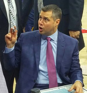 Dave Joerger - Joerger coaching the Memphis Grizzlies in December 2015