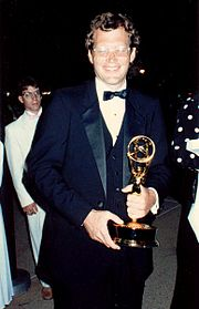 David Letterman with an Emmy in 1987.