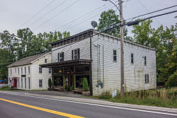 DeWitt Hotel (L) and Fords Store Durham NY