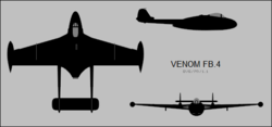 De Havilland Venom FB.4 three-view silhouette.png