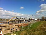 De Julianasluis in Gouda met de nieuwe kolk in aanbouw (09).JPG
