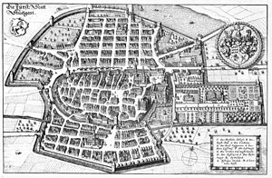 Stuttgart - 1634 Drawing of Stuttgart by Matthäus Merian