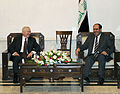 Defense.gov News Photo 110407-F-DQ383-019 - Secretary of Defense Robert M. Gates meets with Iraqi Prime Minister Maliki during a trip to Baghdad Iraq on April 7 2011. Gates also met with.jpg