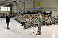 Defense Secretary Chuck Hagel takes a question after delivering remarks to several hundred airmen on Langley Air Force Base in Hampton, Va 140225-D-NI589-489c.jpg
