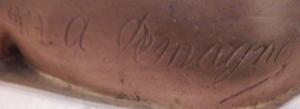 Marie-Antoinette Demagnez - A circa 1898 signature example for M. A. Demagnez