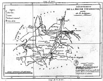 Meuse-Inférieure - Map of the former Meuse-Inférieure département.