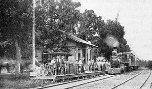 Okoboji, Iowa - Depot at Okoboji, 1902
