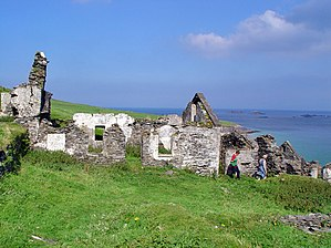Derelict houses, Great Blasket ISland - geograph.org.uk - 923761.jpg