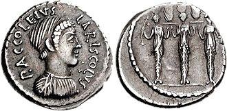 Diana Nemorensis - Image: Diana Nemorensis denarius 1