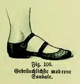Die Frau als Hausärztin (1911) 106 Gebräuchliche moderne Sandale.png