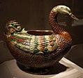 Dinastia tang, contenitore a forma di anatra mandarina o oca selvatica, 700-750 ca.jpg