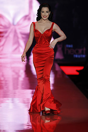 Dita Von Teese - Von Teese on the catwalk at The Heart Truth in February 2011