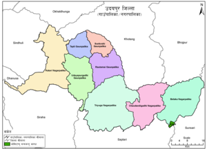 Political division of Udayapur